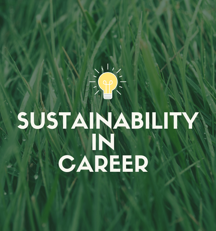 Sustainability in career banner